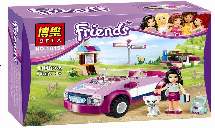 10154 Friends Emmas Sports Car building Blocks Bricks Toys Girl Game Toys for children compatiable with lego<br><br>Aliexpress