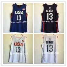 New Rare #13 Paul George 2016 Dream Team USA Throwback Basketball Jersey US Size S-XXL(China)