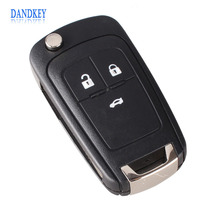 Dandkey 3 Buttons Flip Remote Folding Car Key Fob Case for Vauxhall Opel nsignia Astra HU100 Car Cover(China)