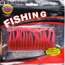 16Pcs/Lot Newest Soft Fishing Lures Bait 5cm/1g smell Artificial Fake Bait Worms fishing lure with salt smell FA-257(China)