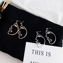 Small Ornaments Simple Abstract Funny Face Individuality Influx Of People Earrings Earrings South Korea(China)