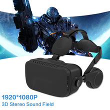 VR Box 3D Virtual Reality Goggles Immersive 1920*1080 P With Headphones Google Cardboard Headset All In One VR HDMI Android 5.1