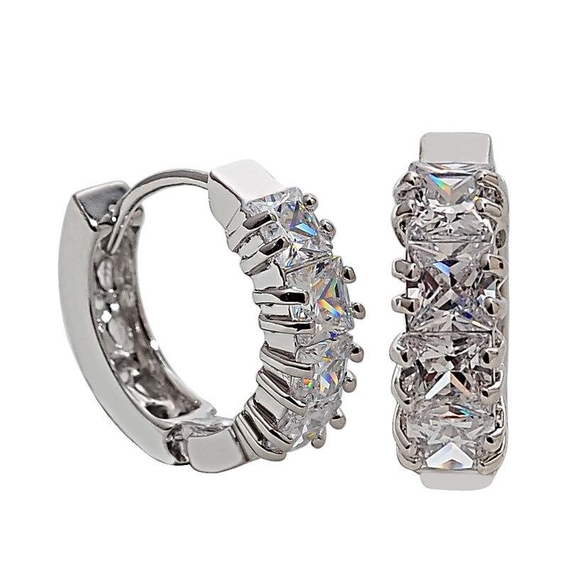 riple plated earrings,mini  earring , zircon small studs , fashion style earrings