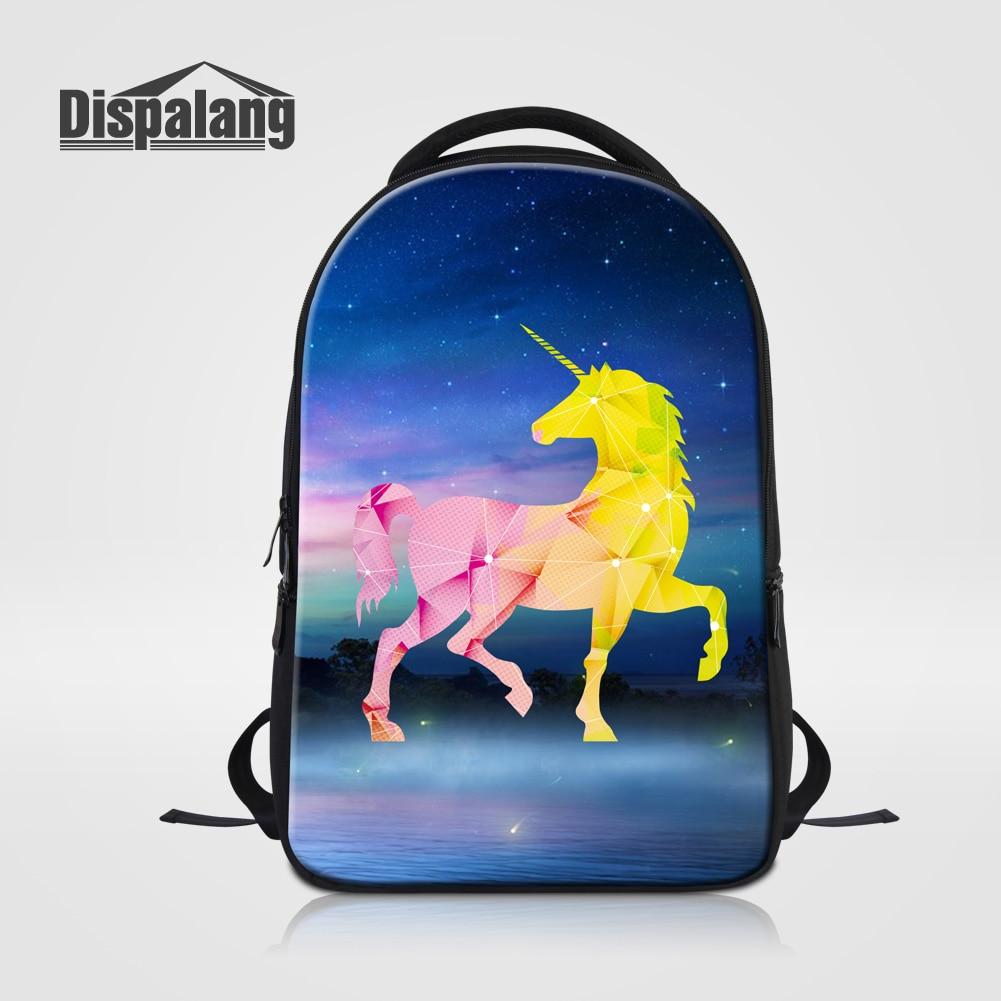 Dispalang Fantastic Diamonds Unicorn Printing Laptop Backpacks For 14 Inch Notebook Children Shoulder School Bags Mochila Rugtas<br>
