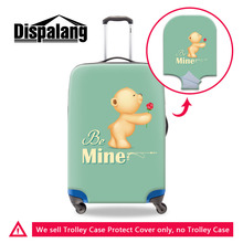 Dispalang Travel Luggage Protective Dust Covers For 18-30 Inch Trolley Case Be Mine Unique Valentines Present Suitcase Cover(China)