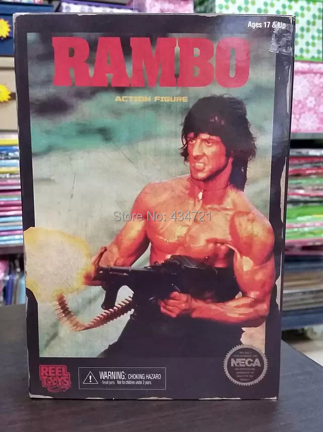 Hot Sale Sylvester Stallone Classic Movie First Blood Part II Rambo NECA  7Action Figure Toys New Box<br>