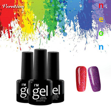 Verntion Neon Uv Gel Nail Polish 8 Ml Led Lamp for Manicure Soak Off Long Lasting Color Gel Paint Nail Polish Colored Gels(China)