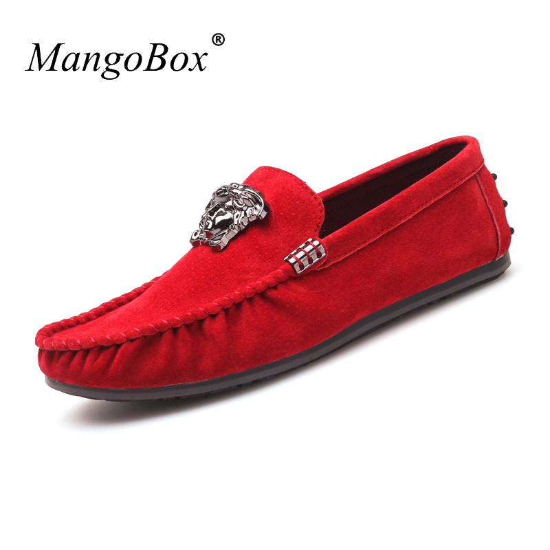 MangoBox Young Boy Casual Shoes Brown Adult Moccasins Sneakers Spring Male Flats Loafers Shoes Spring Summer Casual Shoe for Men<br>