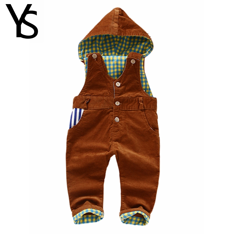 9m-4Years Baby Long Pants Hooded Overalls, Infant Boys Girls Corduroy Jumpsuit,Soft Comfortable 100% Cotton Inside For Winter<br><br>Aliexpress