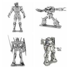 Free shipping 3D Metal Puzzle Diy Assembly Pure Metal Assembled Gundam Mecha Crab-type Robot War Machine Model Puzzles For Adult