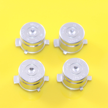 50 sets Chrome Aluminum Metal Bullet Buttons Mod Kit for DualShock 4 3 PS3 PS4 Wireless / Wired Controller Face Button