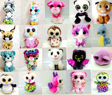 Hot Beanie Boos Big Eyes Small Unicorn Plush Toy Doll Kawaii ty Stuffed Animals for Children's Toy/Christmas Gifts(China)
