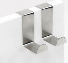 Stainless Over Door Hooks Kitchen Cabinet Draw Towel Clothes Pothook can carry 10kg(China)