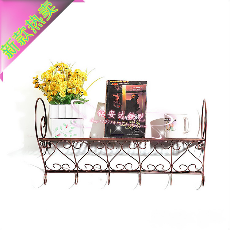 Vintage iron wall shelf wood bookcase creative support bracket racks Stands wall mount bracket shipping<br><br>Aliexpress