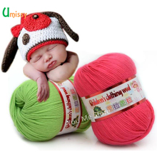 1pc Milk Fiber Cotton Yarn for Knitting Baby Clothing Doll 5 Trands Using 2.5mm Crochet 12mm Needle 50g/pc