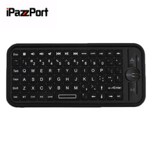 iPazzPort KP-810-16B Mini Size Wireless Bluetooth 3.0 Keyboard Small Portable Handheld Keyboard For Android For IOS(China)
