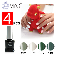 Mro 4 pieces/lot long lasting 3 step uv gel nail polish set for nail 100 colors can choose gel varnishes nails gel professional