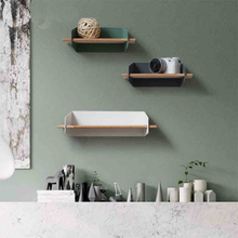 collalily Nordic Wall Decoration Magazine Storage Holders Racks wood Modern Design Hanger for corridor Rails bookrack(China)