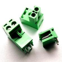 10 sets 5.08 2pin Right angle Terminal plug type 300V 10A 5.08mm pitch connector pcb screw terminal block Free shipping(China)