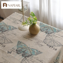American country retro nostalgia linen tablecloths tea table cloth drape(China)
