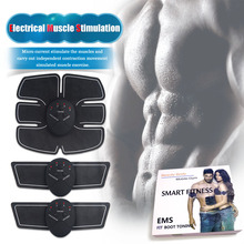 Wireless Abdominal Muscle Trainer Body Stimulator Exercise Fitness Massage Relaxation Fitness Slimming Body Sculptor Fat Burner(China)