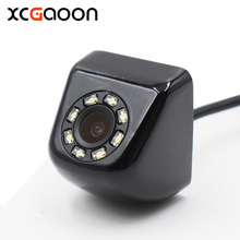 XCGaoon CCD HD Car Rear View Camera Real Waterproof 140 Degree Wide Angle 8 LED Night Vision Parking Reversing Assistance