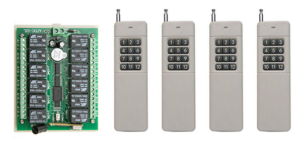 DC12V 12CH RF home automation remote control switch transmitter and recevier wireless switch Radio smart home control shutters<br>