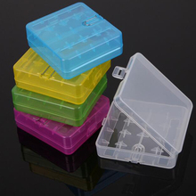 5pcs(5 Colors) 18650 Box Portable Hard Plastic Battery Case Holder Storage Case Box for 4-18650 battery Hook Holder plastic box(China)
