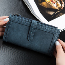 2017 Brand Genuine Leather Women Wallet Long thin Purse Cowhide multiple Cards Holder Clutch bag Fashion Standard Wallet W110