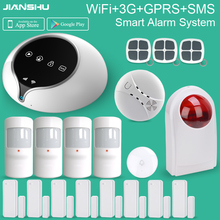 Newest 3G Alarm System Wireless WIFI Smart Home Alarm System IOS Android APP Control GSM WIFI GPRS Alarm System with Siren