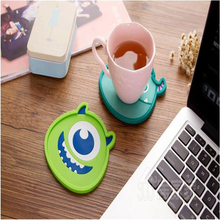 1pcs Silicone Coasters Insulation Mat Creative Cute Cartoon Cup Mat Cute Anime Silicone Coffee Pads Kitchen Accessories D0099(China)