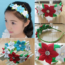 Fashion Stylish Headband hyacinth Garland Hair Bow Hair Accessories free shipping  20pcs