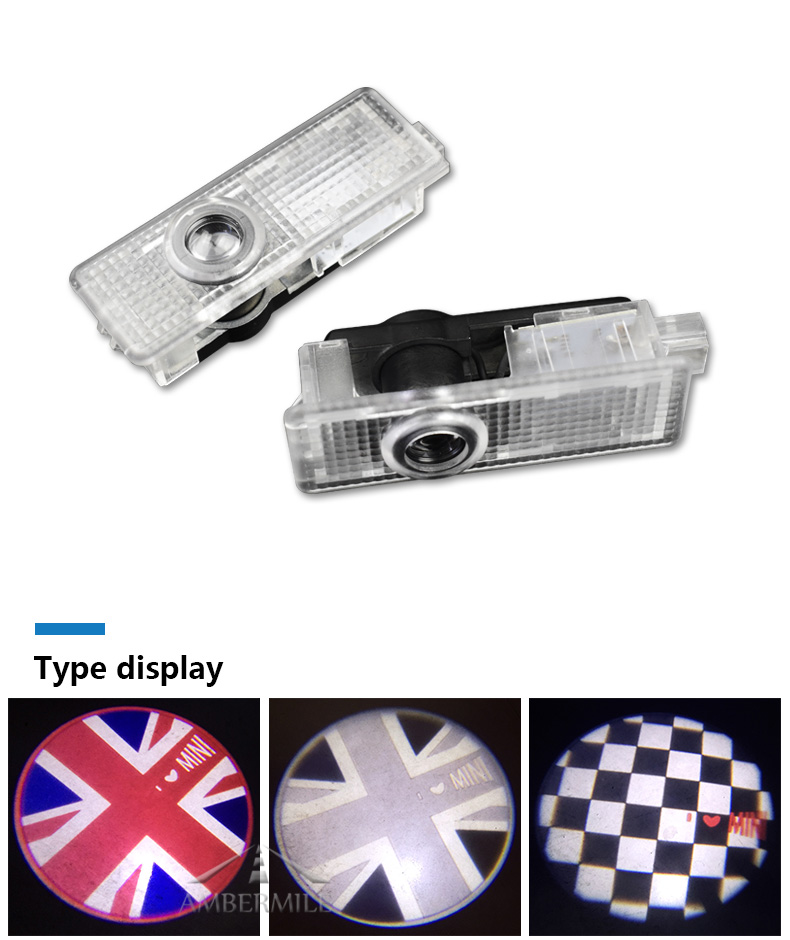 LED Car Door Shadow Light Laser Projector Logo Welcome Lights for Mini Cooper Countryman Accessories Car Styling (2)