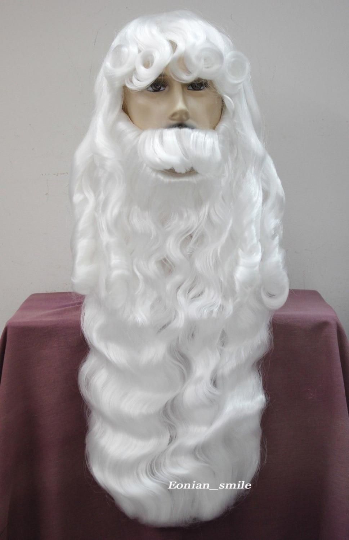 Silver white Santa Claus Fancy Dress Cosplay wig (B0320)<br><br>Aliexpress