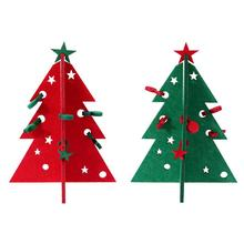 2017 NEW Kids DIY Felt Christmas Tree Ornaments Children Gift Toddler Table Desktop Preschool Craft Xmas New Year Decoration