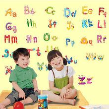 Alphabet Letters Sticker Big Graphic Kids Room Nursery Wall Decal Decor AZ Word