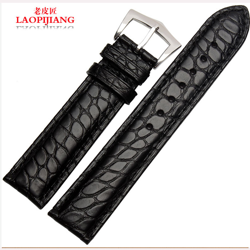 laopijiang Crocodile Leather Watchband chain circular fashion watches accessories 18mm 20mm 22mm<br>