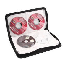 CES-Gray World Map Pattern CD VCD DVD Discs Storage Case PVC Bag