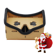 Virtual 3D Reality Glasses Google Cardboard DIY Magnet Viewing VR Box Movies Glasses Mobile Phone for iPhone 5 6 7 SmartPhones