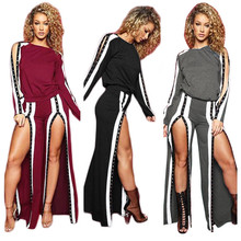Buy Autumn Winter Tracksuit Long Sleeve Stitching Sweatshirts Casual Suit Women Clothing 2 Piece Set Tops+Skirt Sporting Suit Female for $20.28 in AliExpress store