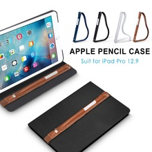 "Holder with USB Adapter Pocket For Apple Pencil , Genuine Leather Sleeve For Apple Pencil Handmade fit for  iPad Pro 12.9"" Cases"
