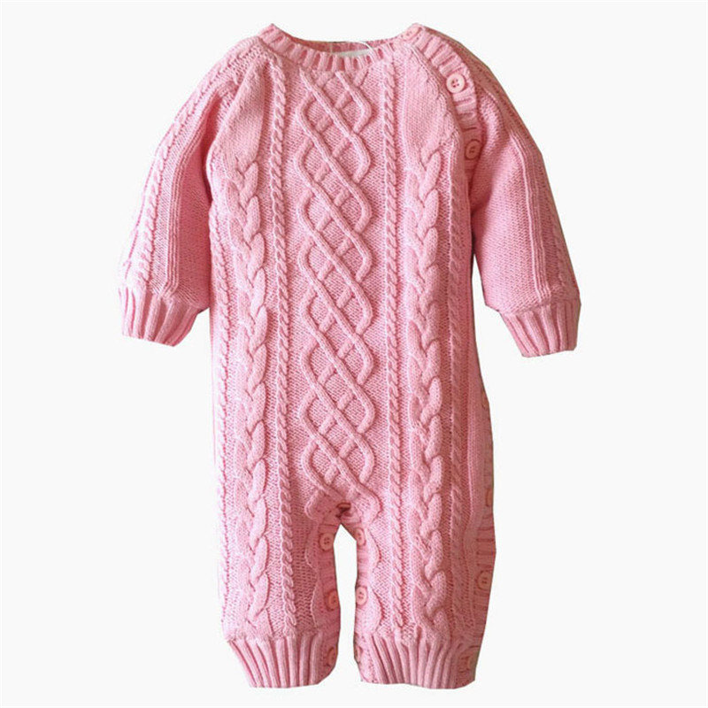 Newborn Baby Girls Clothing 2017 Thick winter sweater Rompers Infant Clothes Down Snowsuit Babies Jumpsuits<br><br>Aliexpress