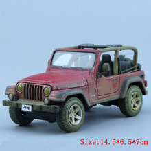 1/27 Scale Diecast Car Model Toys Popular Wrangler Rubicon Dusty Finish Car Model Best Gifts Collections For Children(China)
