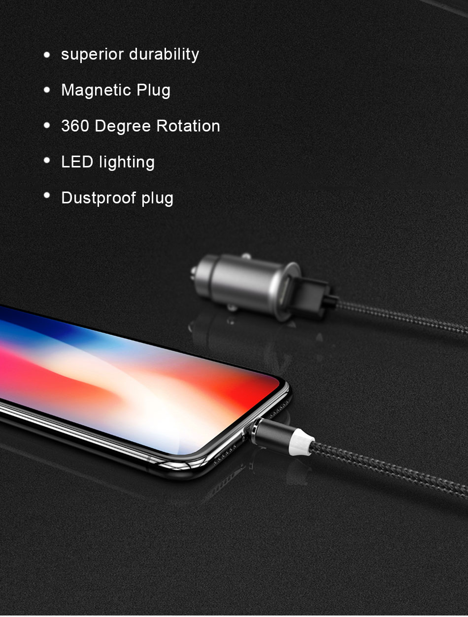 NOHON Strong Magnetic Long Charger Cables 8 Pin For iPhone XS MAX XR X 8 Plus Charging Cable Micro USB Type-C For Samsung S8 2M (7)