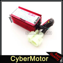 Red Racing 6 Pin AC Ignition CDI Box For GY6 50cc 90cc 110cc 125cc 150cc Engine Parts Chinese Moped Scooter ATV Quad Buggy