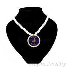 1pc free shipping Wholesale Greek Sigma Gamma Rho Sorority SGR 1922 crystal necklace Jewelry(China)