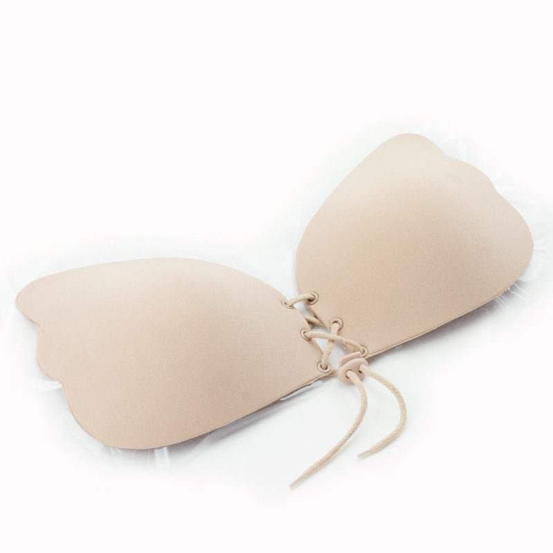 17 New Fashion Sexy Womens Strapless Binding Air Chest Paste Together To Hide The Bride Invisible Bra 8 Holes Europe hot sale 7