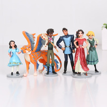 6pcs/set Elena of Avalor PVC Action Figures Elena Dolls PVC ACGN figure Garage Kit Toys Brinquedos