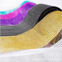 10 Yard Send Wedding Diamond Mesh Party Decorations Trim Wrap Tulle Roll Sparkle Rhinestone Crystal Bling Cake Ribbon 20 colors