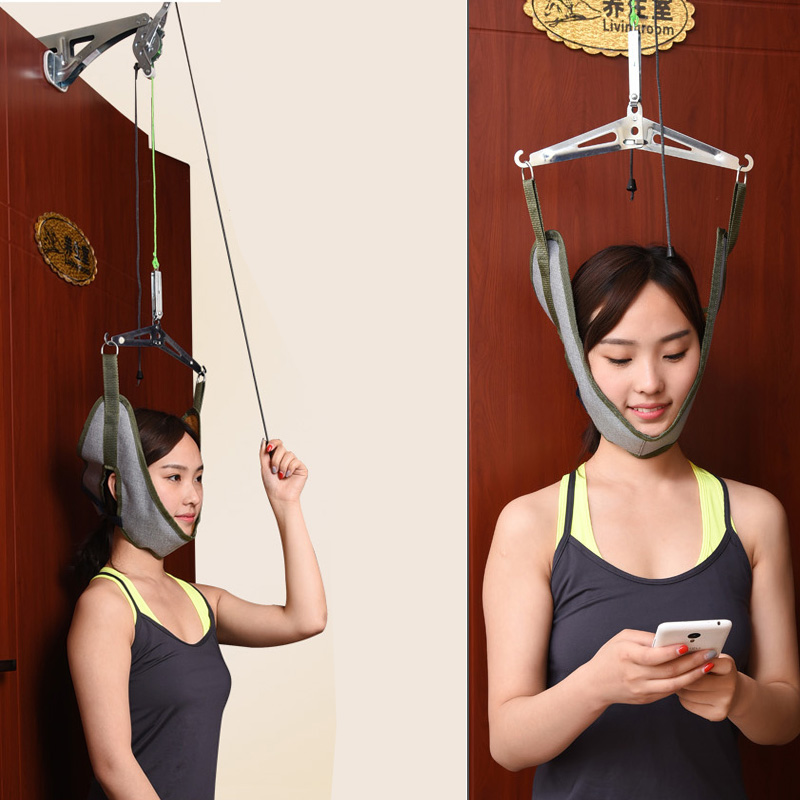 Good gift for your family Home Use Over Door Cervical Traction Set for Fast And Easy To Relieve Neck Shoulder Pain<br>